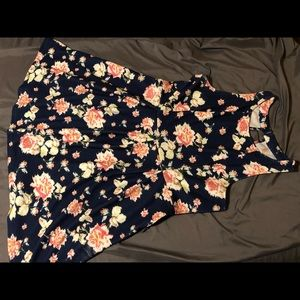 Xhilaration XXL Navy with pink flowers day dress